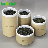Different size custom kraft paper special tea gift packaging box for loose tea