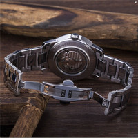 Business metal strap watches men luxury brand automatic