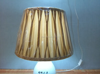 Silk Fabric Table Lampshade For Home Pleated Lamp Shade