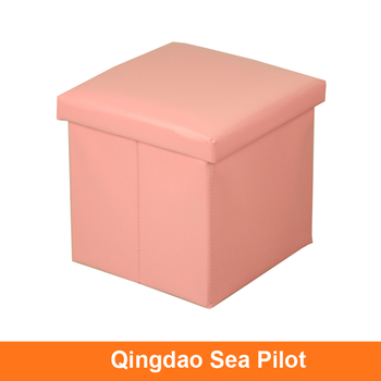 Whole Multipurpose Fold Storage Cube Ottoman Soft Fabric Box Stool View Square Oem Product Details From Qingdao Sea Pilot