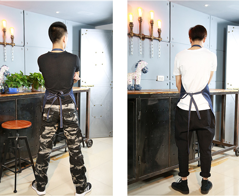 Multi-pocket with do housework aprons restaurant uniform apron