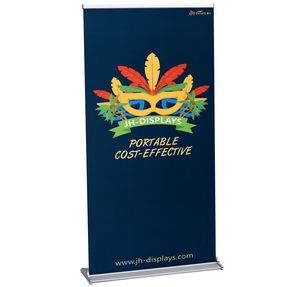Luxury double side triangle roll up banner