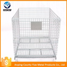 Best-selling Industry galvanized wire mesh used steel folding storage cage
