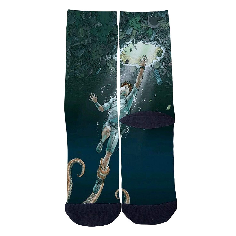 4af618166f2f Get Quotations · Creative green earth Socks Mens Womens Custom Crew Socks  Personality Creative Socks Multiple Elite Socks