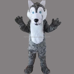 Gray Lynx Wolf Mascot Costume Cosplay Fancy Party Dress adult size