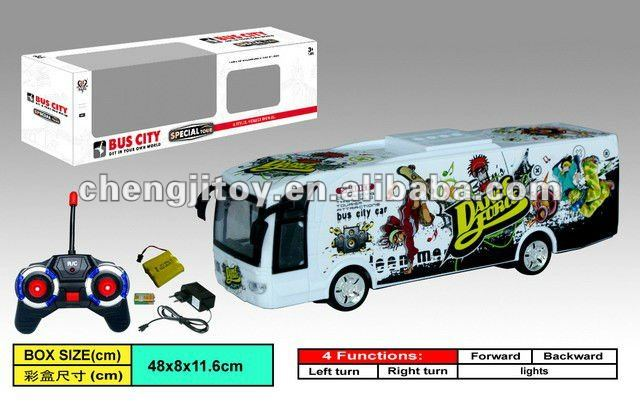 Chenghai toy 4ch model bus rc with light and battery