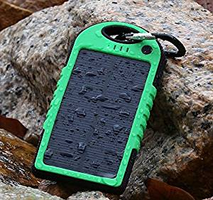 JJF Bird ™ Solar Panel Charger 5000mah/8000mah/10000mah Rain-resistant Waterproof Shockproof Portable Dual USB Port Portable Charger Backup External Battery Power Pack for Iphone 6 4 4s 5 5sipod, Ipad Ipad Mini Retina(apple Adapters Not Included), Samsung Galaxy Note 2, Note 3, S2 S3, S4, S5,