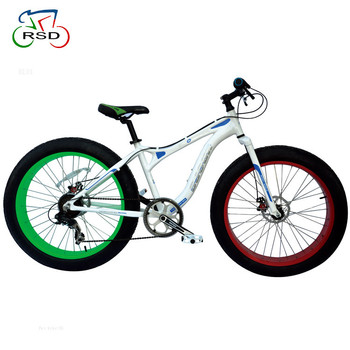 4.9 Tire Rigid Suspension fork Alloy Sand Snow Beach Cruiser Fat Bike with dual disc brake from alibaba website