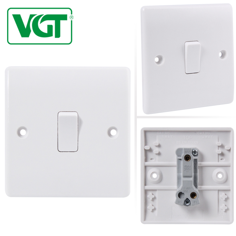 Factory Price 1 Gang 2 Way Vgt 3 Gang 1 Way Wall Switch - Buy Vgt 3 ...
