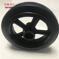 Shopping cart wheel with brake rubber folding cart caster wheels 150mm diameter
