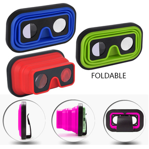 Promotional Expandable Silicone VR Glasses Virtual Reality 3D Glasses VR Goggles
