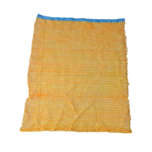 orange PE Plastic Raschel mesh bag for packing onion and other agricultural products
