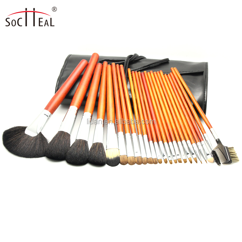 24Pcs Makeup Brushes Kit Cosmetic Make up Brush Set with Wood Handle