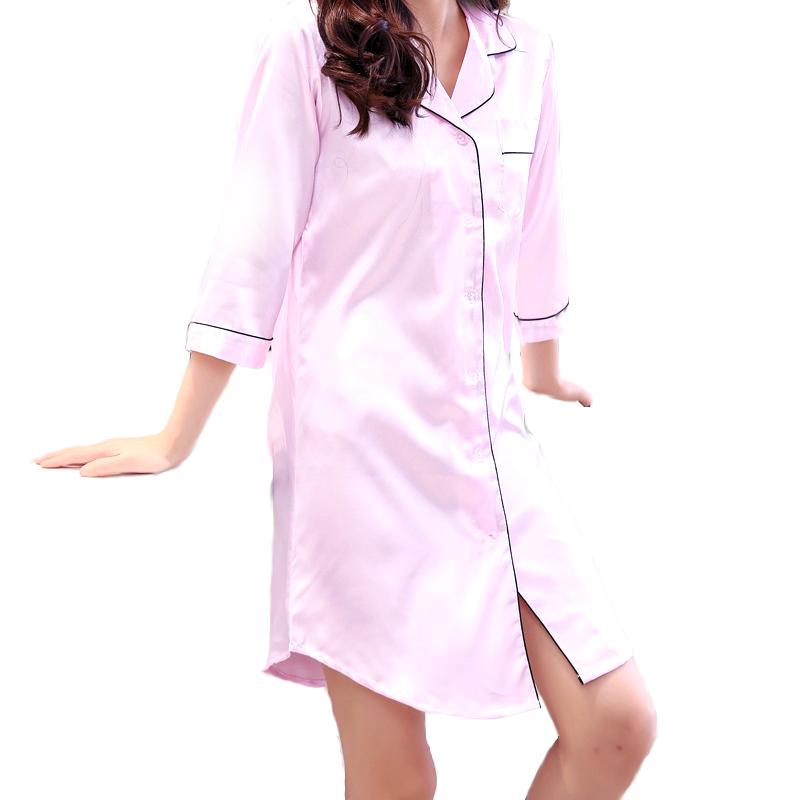 New Design Customized  Satin Silk Woman Night Dress for Sleeping