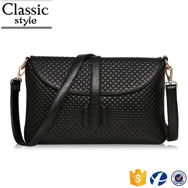 CR qaulity guarantee latest designed shoulder bag with long strap classical black vintage leather satchel