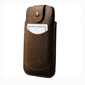 16131 Phone Case For iPhone 6 / 6 Plus Bag Genuine Leather Sleeve Pouch Cover Snap Closure