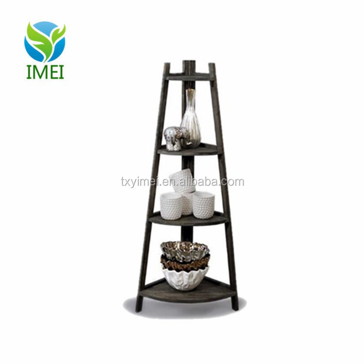 YM0J46 Customized Retail Display Curio with Rounded Shelves Etagere