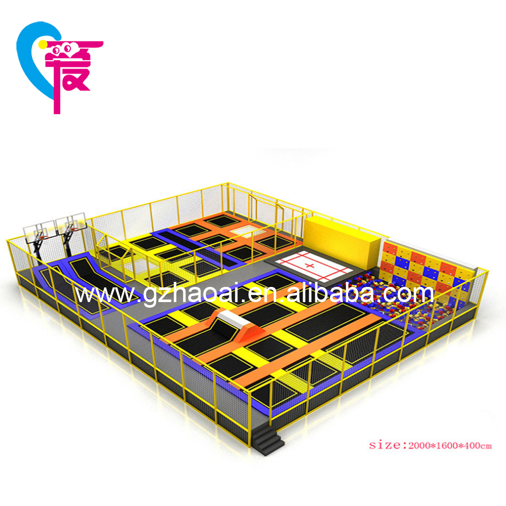 A-15248 Hot Selling Durable Customized Big Commercial Trampoline Park For Kid and Adult
