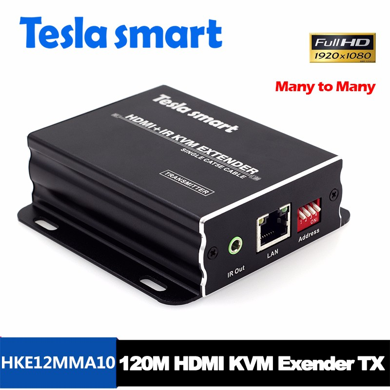 Top Vendita Molti a Molti KVM Fibra HDMI Extender 100 m over IP HDMI Extender Cat5e x1