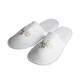 Cheap hotel indoor guest slippers custom logo cotton disposable spa slippers