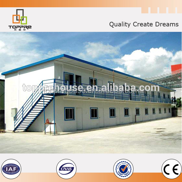 Fast assembly two storey worker staff T style prefab modular house