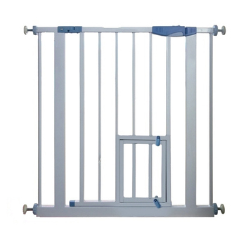 Metal Baby Safety Gate Stair With Small Pet Door Product On Alibaba