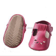 2018 Pure leather outdoor prewalker baby shoes soft leather rubber sole baby shoes