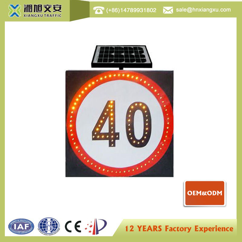 Product of china new promotion colors led solar traffic singal sign lighted street signs