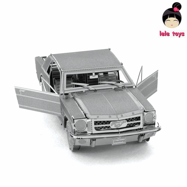 VEHICLES 3D Metal Model Puzzles 1965 FORD MUSTANG Chinese Metal Earth Stainless Steel Creative Gifts ICONX