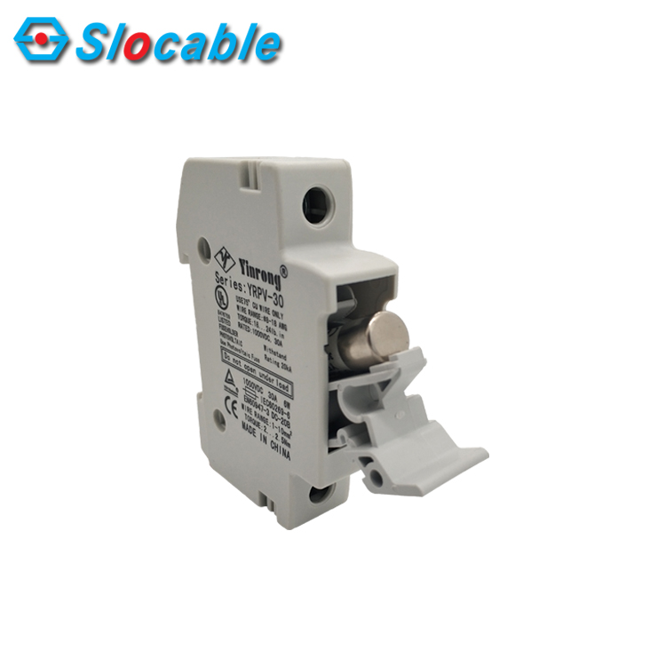 TUV CE 1000V 30A DIN Railed Solar Power system in DC combiner box 10x38mm DC Fuse Holder
