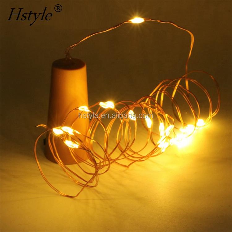 Cr2032 Bateria Botão Operado Led Fio de Cobre Luzes Cordas, led Natal/Diwali/Fio De Cobre Luz Cordas Do Casamento HNL008CR