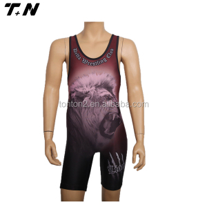 Wholesale Low Cut Athletic Wrestling Singlets/ Wear/ Jersey
