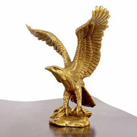 small metal birds eagle brass statue for coffic table