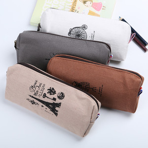 Wholesale Custom Print Soft Canvas Pencil Pouch with Zipper