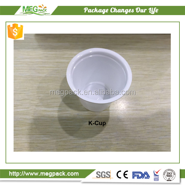2017 custom empty biodegradable coffee capsule K cup with filter paper