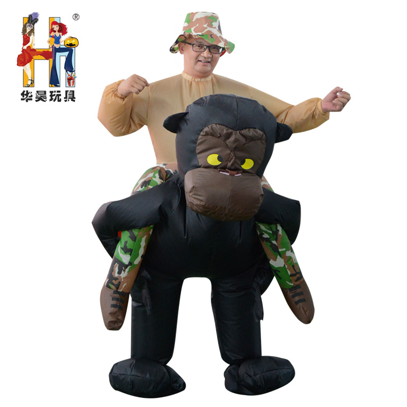 Oktoberfest Beer Festival Unique Design Halloween Inflatable Gorilla Carry Me Costume/Mascot Ride On Costume for Hot Sale