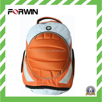e32ff1f5e Soccer ball backpack, soccer backpack, soccer bag with EVA volleyball  decoration