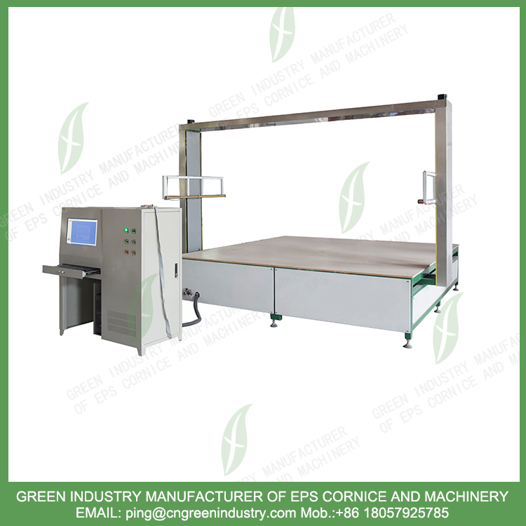 CNC Hot Wire EPS Foam Cutting Machine For EPS Cornice Molding