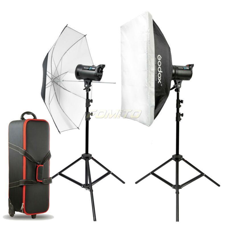 godox ds200 e 2pcs ds series studio flash kit video photo studio lighting kit flash kit. Black Bedroom Furniture Sets. Home Design Ideas