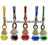 unique hanging air perfume elegant glass bottle car air freshener