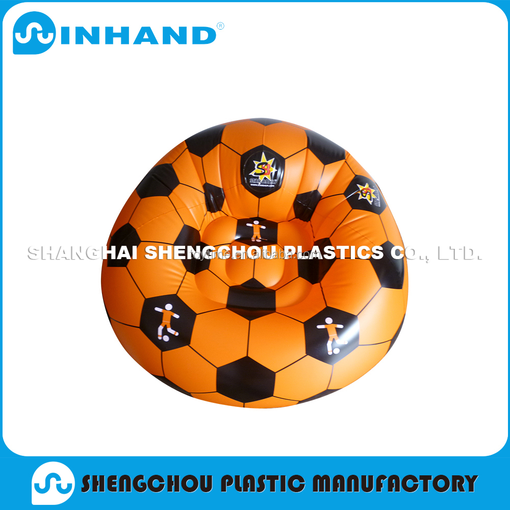 China Supplier Football Pattern Inflatable pvc Sofa chair