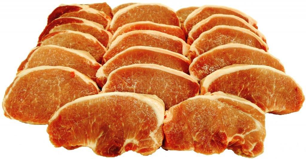 Interbay, Pork Loin Boneless Center Cut Chops, Fresh, 19 chop ct, 9 lb Total