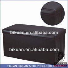 BQ leather pouf foam