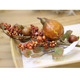 red berry branch Christmas ornament with pumpkin