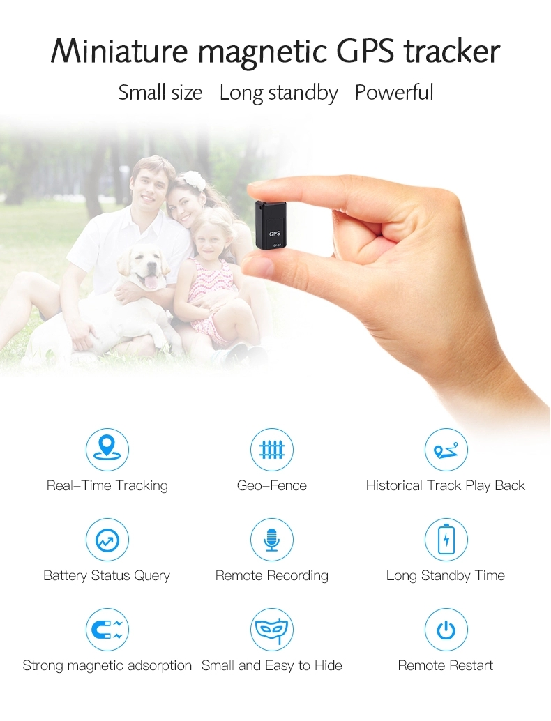 Hot Sale Small Size Personal Real Time Mini GPS Tracker GF07 Magnetic Tracking Locator GSM Tracer Device
