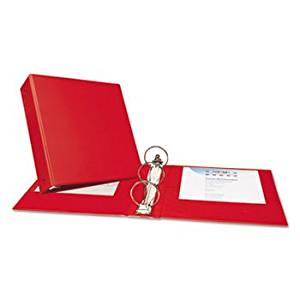 """""""Economy Non-View Binder With Round Rings, 11 X 8 1/2, 3"""""""" Capacity, Red"""""""