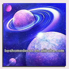Universe outdoor scenery canvas oil painting,waterfall canvas painting,abstract canvas painting ideas