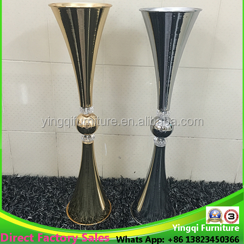 Trumpet Metal Acrylic Vases For Wedding Table Buy Trumpet Vases