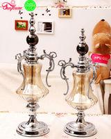 Good Xmas Silver Plated Decoration Pray Cheap Glass Candlesticks