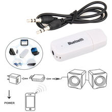3.5mm Bluetooth Wireless Stereo Audio Adapter USB Music Speaker Receiver Dongle With 3.5 mm AUX cable